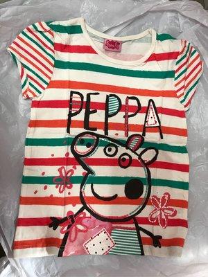 kitty house (777B) 童裝 女孩 peppa pig 彩紅間 純棉 短袖 T-shirt T恤 特價$58包郵