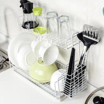 創意廚房瀝水架碗碟筷架水槽多層置物架整理收納架晾碗滴水架  igo