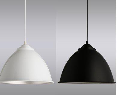 簡約吊燈燈罩創意 全鋁工礦燈罩單頭現代網吧餐廳辦公室個性吧臺 GYJ73