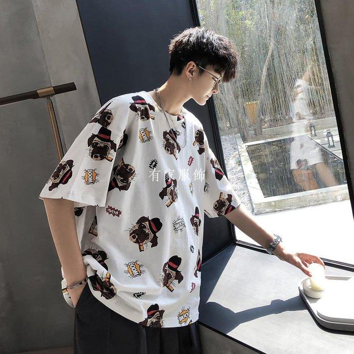 有家服飾青港的風 夏季ins超火cec短袖T恤男潮牌潮流正韓情侶百搭半袖上衣