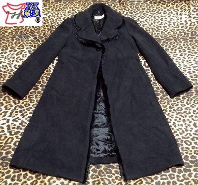【有品味 就懂,J&K嚴選】劉嘉玲代言品牌WANKO大衣 長版 羊毛 貴婦款–女款【36號-黑色】LV來自星星的你