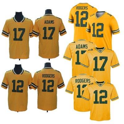 ☜男神閣☞nfl 包裝工 inverted  12 Rodgers 17 Adams 倒轉版刺繡球衣