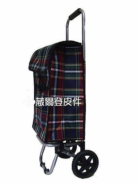 【葳爾登】旅行袋旅行箱,行李袋菜籃購物袋環保袋買菜車/緹花布折疊環保購物車9216