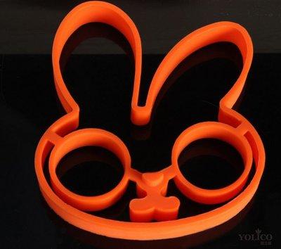 【悠立固】Y557 創意環保可愛白兔矽膠DIY 煎蛋器 動物矽膠煎蛋模具 蛋糕慕斯果凍 烘焙工具 台南市