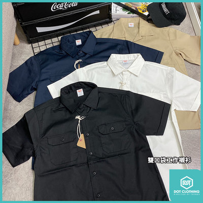 DOT 聚點 United Athle 日本 UA 工裝襯衫 短袖 襯衫 黑 卡其 雙口袋 單口袋 開襟口袋 工作襯衫