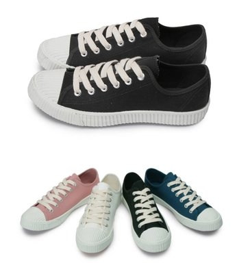富發牌。女鞋。1CM14 升級版餅乾貝殼頭休閒鞋(米/粉/藍/黑)(23-25.5號)~nanakids娜娜童櫥
