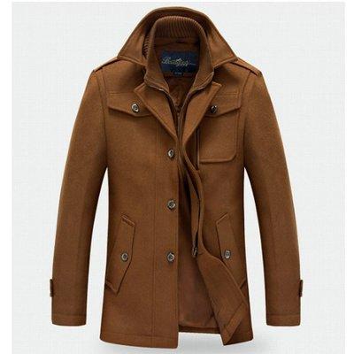 【名仕潮流館】18GWLPQD0022 秋冬新款 男式毛呢大衣#男中長款雙領羊毛呢大衣外套#有190碼 18/8