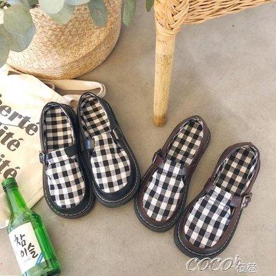 娃娃鞋 圓頭小皮鞋少女學生韓版百搭大頭娃娃鞋