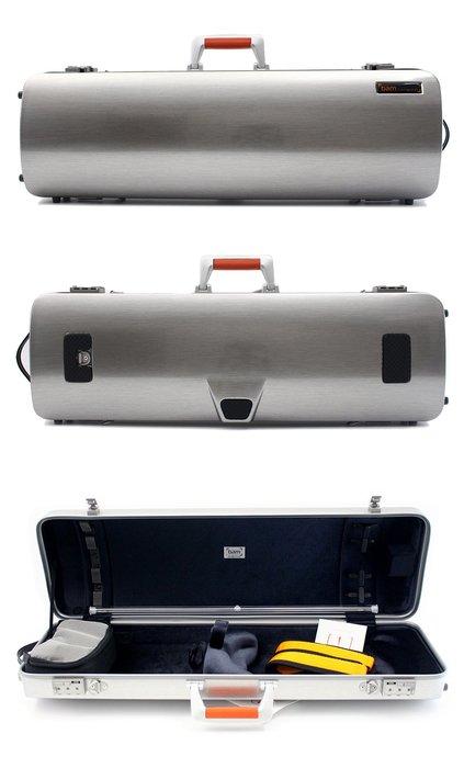【三益琴行】法國BAM-LA LA DEFENSE HIGHTECH OBLONG 小提琴盒DEF2001XL系列-鋁銀