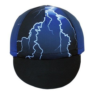 自行車 帽 運動 布帽子-閃電印花時尚騎行腳踏車配件73nx10[獨家進口][米蘭精品]