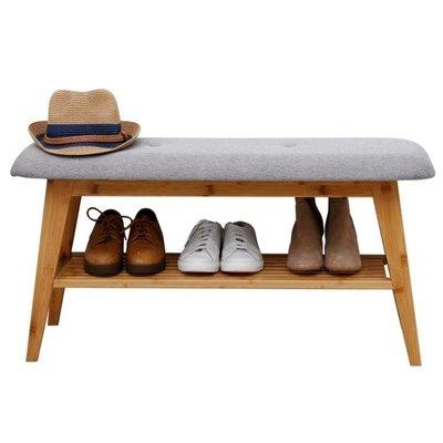 店長嚴選北歐換鞋凳進門簡約現代實木門口可坐鞋架鞋柜收納儲物凳子穿鞋凳