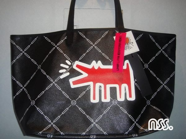特價「NSS』uniform experiment KEITH HARING TOTE BAG 托特包 FRAGMENT