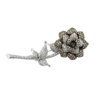 【JHT金宏總珠寶/GIA鑽石專賣】1.43ct天然鑽石造型胸針/材質:18K(JB43-A22)