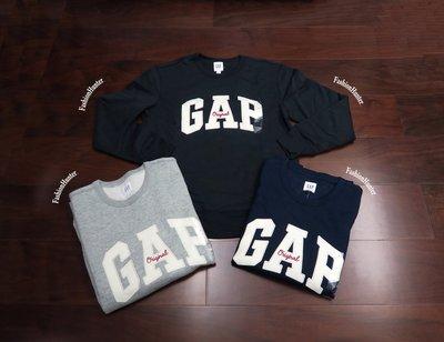 新貨【FH.cc】GAP 刷毛大學t Embroidered arch logo crewneck sweatshirt