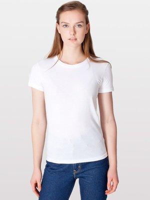 【OhOh】美國 American Apparel 2102 白色圓領素色純棉T恤