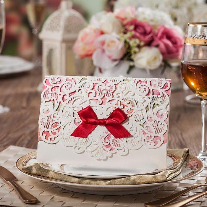 衣萊時尚-熱賣款 請柬結婚創意請帖喜帖中式婚禮婚慶用品邀請函CW5079