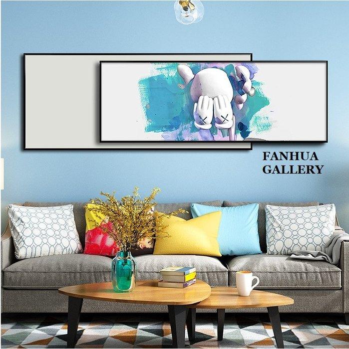 C - R - A - Z - Y - T - O - W - N kaws芝麻街七龍珠潮牌卡通裝飾畫客廳臥室兒童房創意美式時尚雙層設計橫幅掛畫大尺寸橫款壁畫