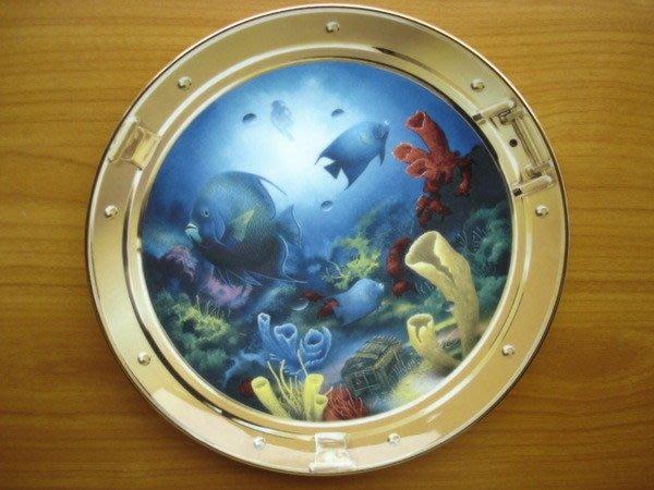 [美]英國百年名瓷大廠Royal Doulton約1990年代骨瓷裝飾盤Treasures of the Sea