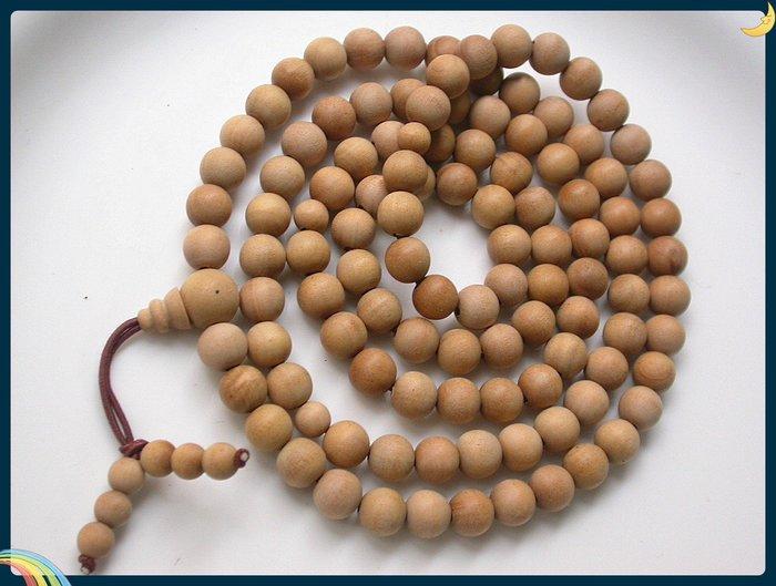【雅之賞 藏傳 佛教文物】*特賣*印度老山檀香108顆 (8mm)佛珠~Q635