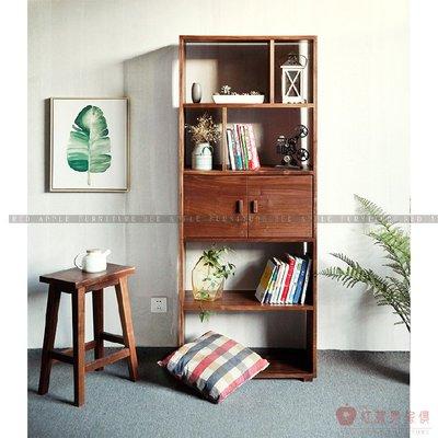 [紅蘋果傢俱]MJ023 北歐 日式 實木 現代 簡約 落地書架 櫃子 置物架 書架