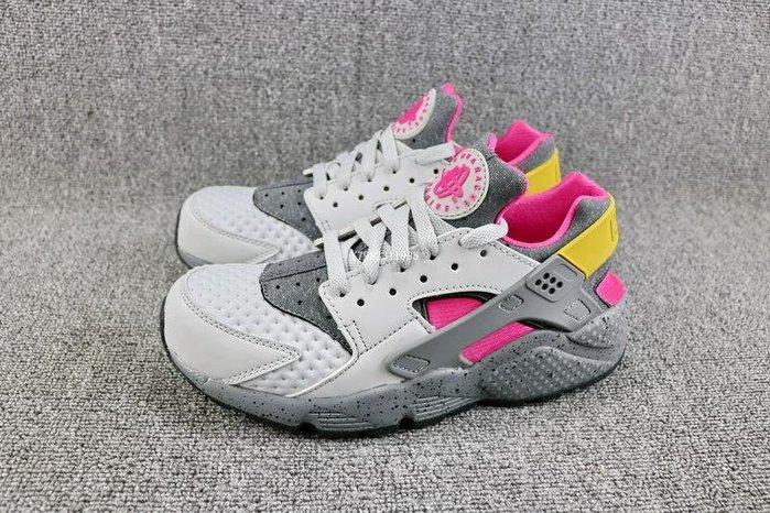 Nike Air Huarache 灰粉 經典復古 武士 休閒慢跑鞋 男女鞋 852628-002