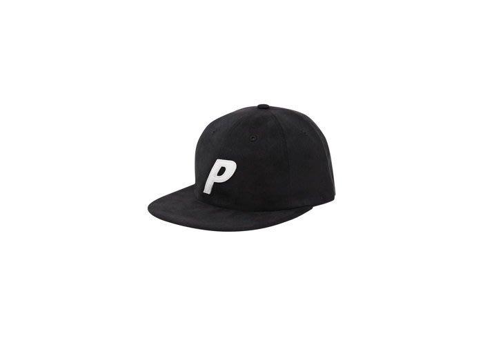 ☆AirRoom☆【現貨】2016AW Palace PAL CAP SUEDEY 刷毛 老帽 大P 黑色 現貨