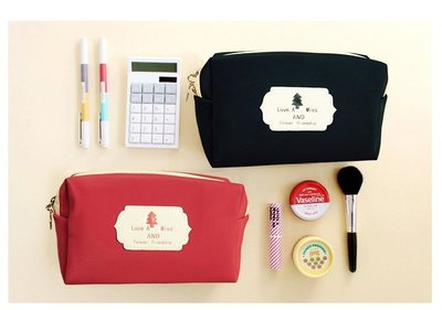 化妝包【HPN007】日系小樹皮革化妝包 購物 折疊袋 手提袋 包包 零錢包 手拿包 收納女王