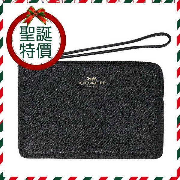 COACH 手拿包 零錢包 素面防刮皮革萬用包100%真品原廠提袋生日禮物現貨聖誕禮物