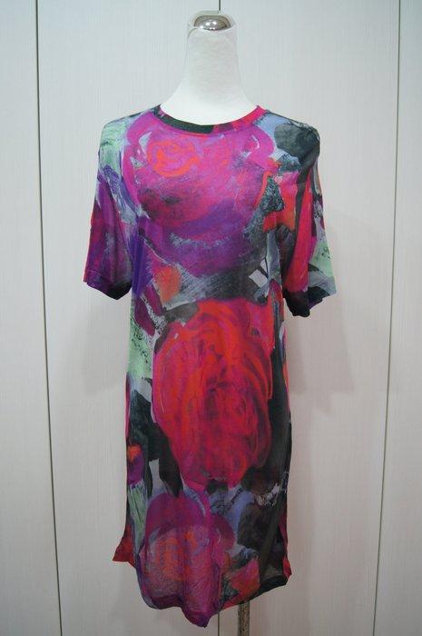 CHRISTOPHER KANE 桃紅色大紅花塗鴉T恤   原價23500     單一價   4900