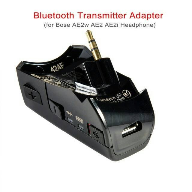 5#改裝QC25耳機用,Bose AE2w藍牙接收器收發器 無線轉接頭,A2DP立體聲,有線耳機變無線通話,8~9成新