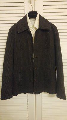 稀少黑單寧 Max & co 極細直條紋重磅牛仔外套