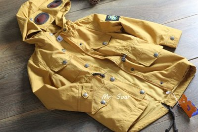 【Mr. Soar】秋季新款 韓國style童裝男童黃色長版風衣連帽外套 現貨 WT002