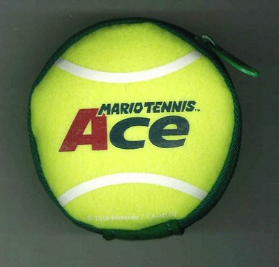 [裘比屋]特-NS 瑪利歐網球 王牌高手 特典 網球迷你收納包 (約8*8cm) 259