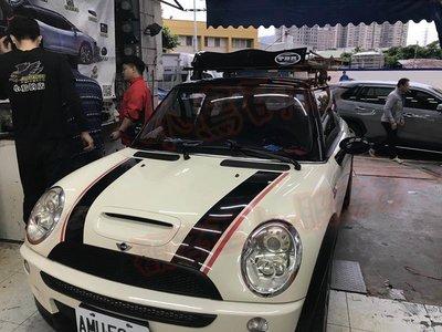 (小鳥的店)Mini Cooper S R53 快克 橫桿 霧黑 車頂架 行李架 附認證 完工價 台製