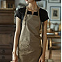 時尚風格圍裙 /工作圍裙 / 咖啡圍裙/ 共三色/ 黑色 /咖啡色 /卡其色