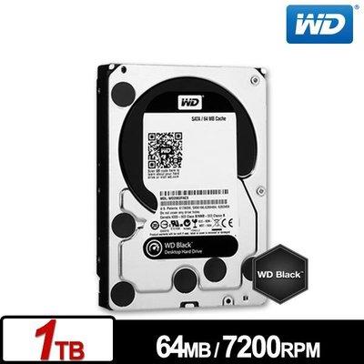 【鴻霖-內接硬碟】WD1003FZEX 黑標 1TB 3.5吋SATA硬碟