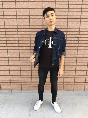官方 CK JEANS 復古 LOGO短袖 黑底白字 Calvin Klein