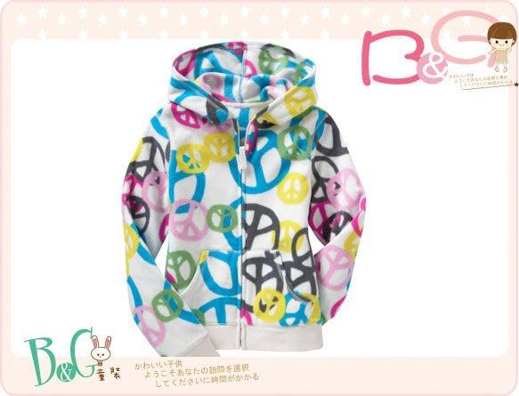 【B& G童裝】正品美國進口OLD NAVY彩色和平標誌長袖刷毛外套S號6-8yrs