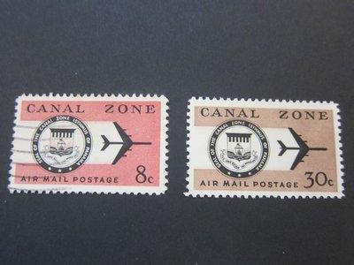 【雲品】巴拿馬運河區(美國屬)Panama Canal Zone 1965 Sc C43,46 MNH 庫號#77354