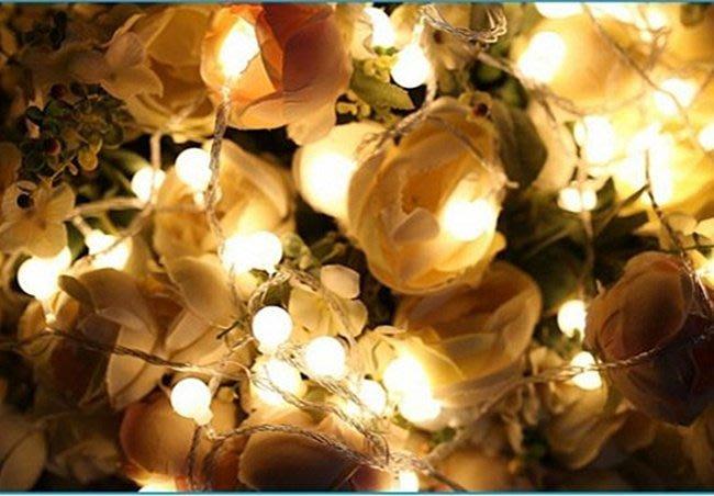 LED {{小圓球}}燈串 庭院婚禮節慶裝飾燈(插電款)