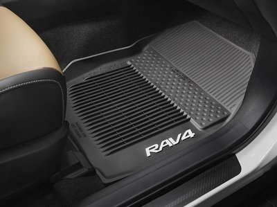 TOYOTA 高品質 原廠 選配 四季 像膠 塑膠 腳踏墊 RAV4 2013+