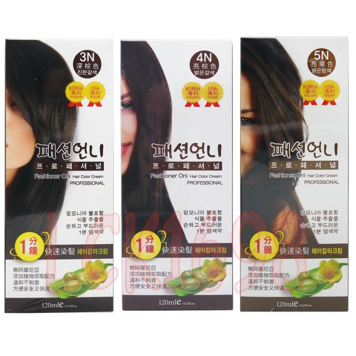 *微風小舖*韓國 Oni 歐尼 1分鐘快速染髮霜 240ml 大包裝 (3色供選) 染髮膏 染髮劑~ 溫和不刺激