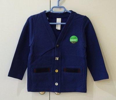 日本設計師童裝品牌 Arch & Line 男童有機棉針織外套(湛藍色)- 日本製造 clearance sale