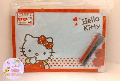 鹿緹的彩虹城堡~日貨 Sanrio Holle Kitty 小白板(可掛 含2筆2磁鐵) 2010年絕版商品