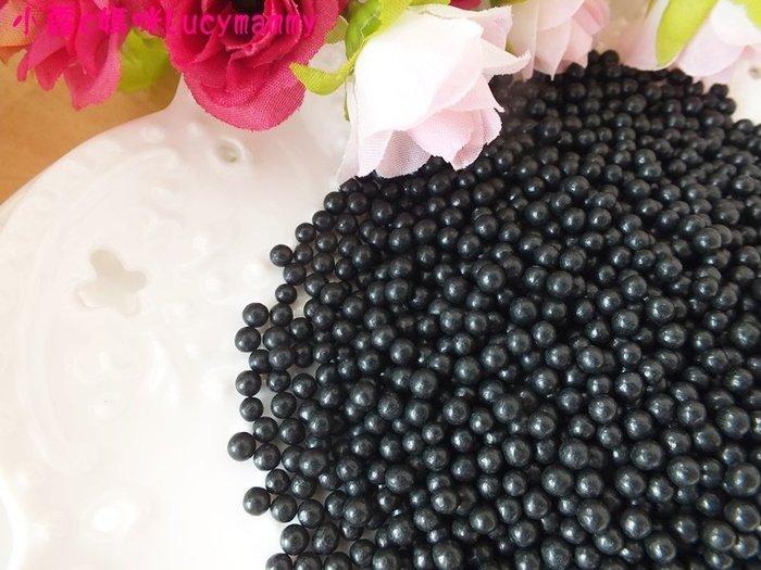 小露c媽咪 加拿大3LSprinkles 食用糖珠LM0033 50g 黑眼豆豆/食用黑珠/裝飾糖珠/黑色糖珠