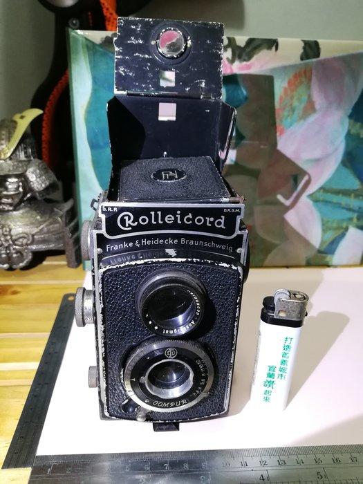 ROLLEICORD I老古董相機 銘馨易拍重生網109GP03 保存如圖(內片玻璃裂損自換,老使用痕鏽損等) 當擺飾拍