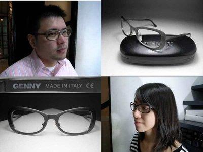 信義計劃 眼鏡 GENNY 眼鏡空框 義大利製 厚版金屬框 復古超越 optical frames eyeglasses