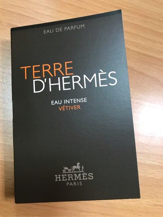 全新現貨Hermes 愛馬仕 大地 馥郁香根草 TERRE D'HERMES 男性淡香精 2ml 可噴式 試管香水