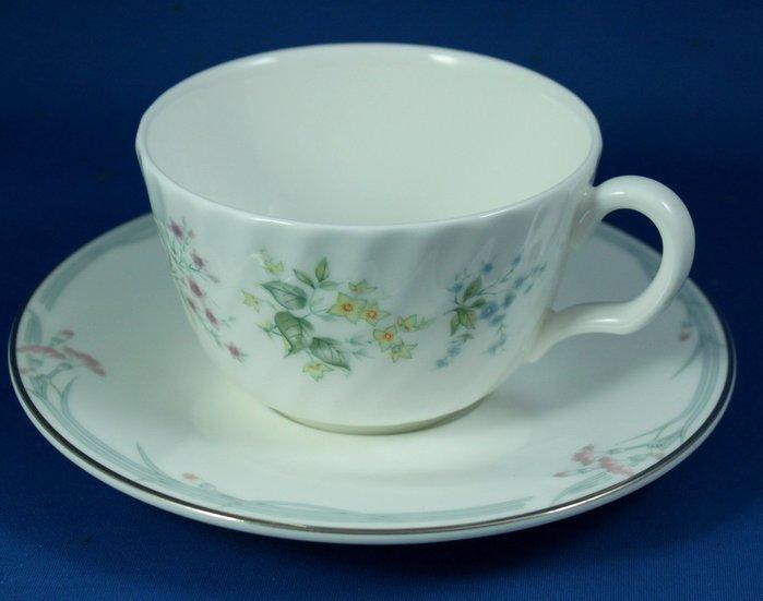 [美]英國百年名瓷MINTON骨瓷茶杯/咖啡杯二用杯盤組SPRING VALLEY+CARNATION