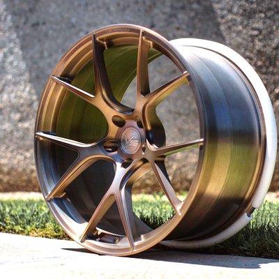 全新鋁圈 美國VERTINI VS02 髮線古銅金 18吋 19吋 20吋 21吋 22吋 客製規格顏色 VS全系列鍛造